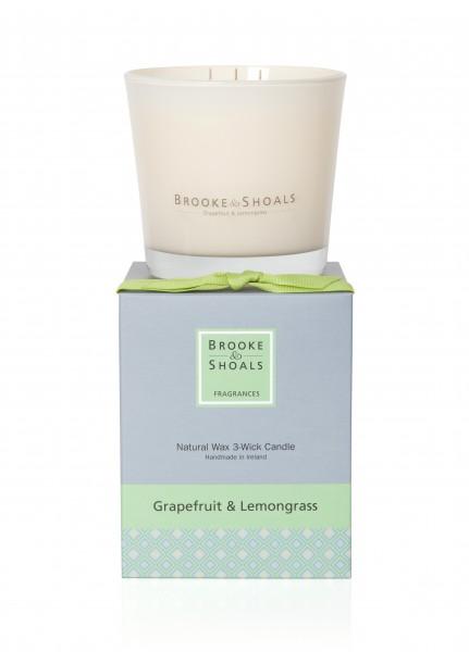Brooke & Shoals 3-Docht Duftkerze Grapefruit & Zitronengras im Levinia Maria e-Shop online kaufen