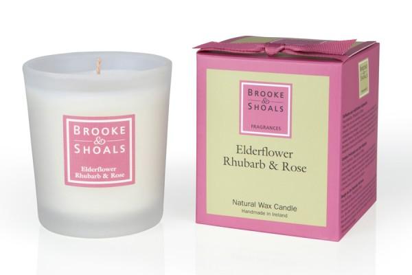 Brooke & Shoals Duftkerzen Holunderblüte, Rhabarber & Rose Standardgröße RC im Levinia Maria e-Shop online kaufen